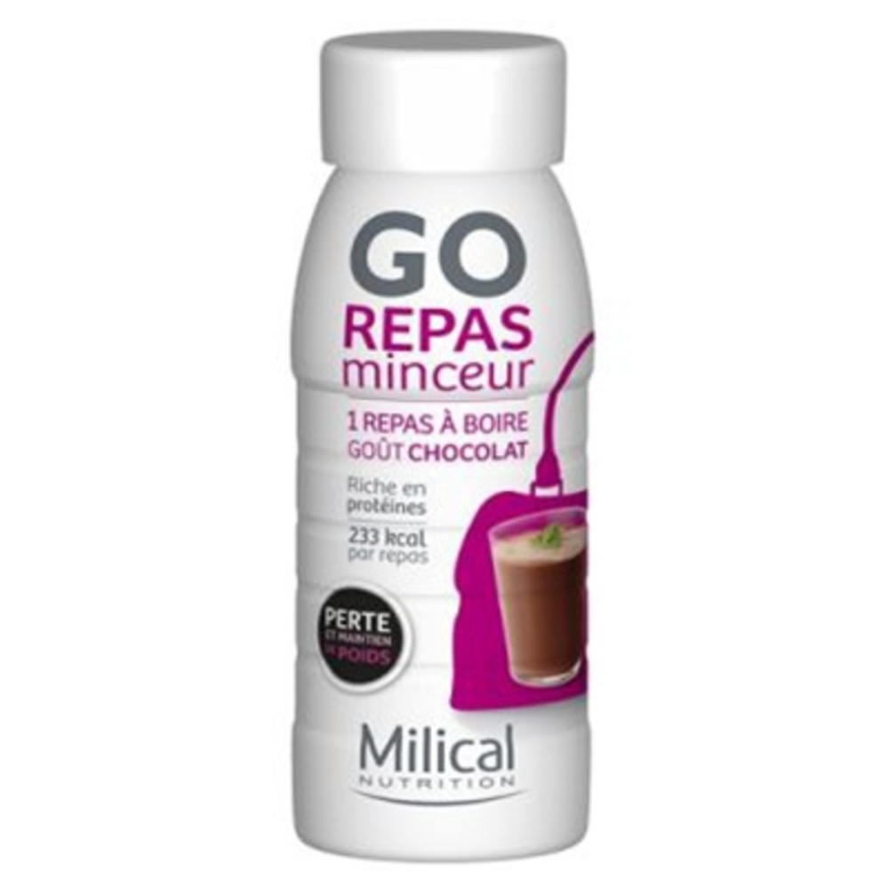 REPAS MINCEUR CHOCOLAT - 236 ML - 12.0 unites - Repas express - Milical -7367