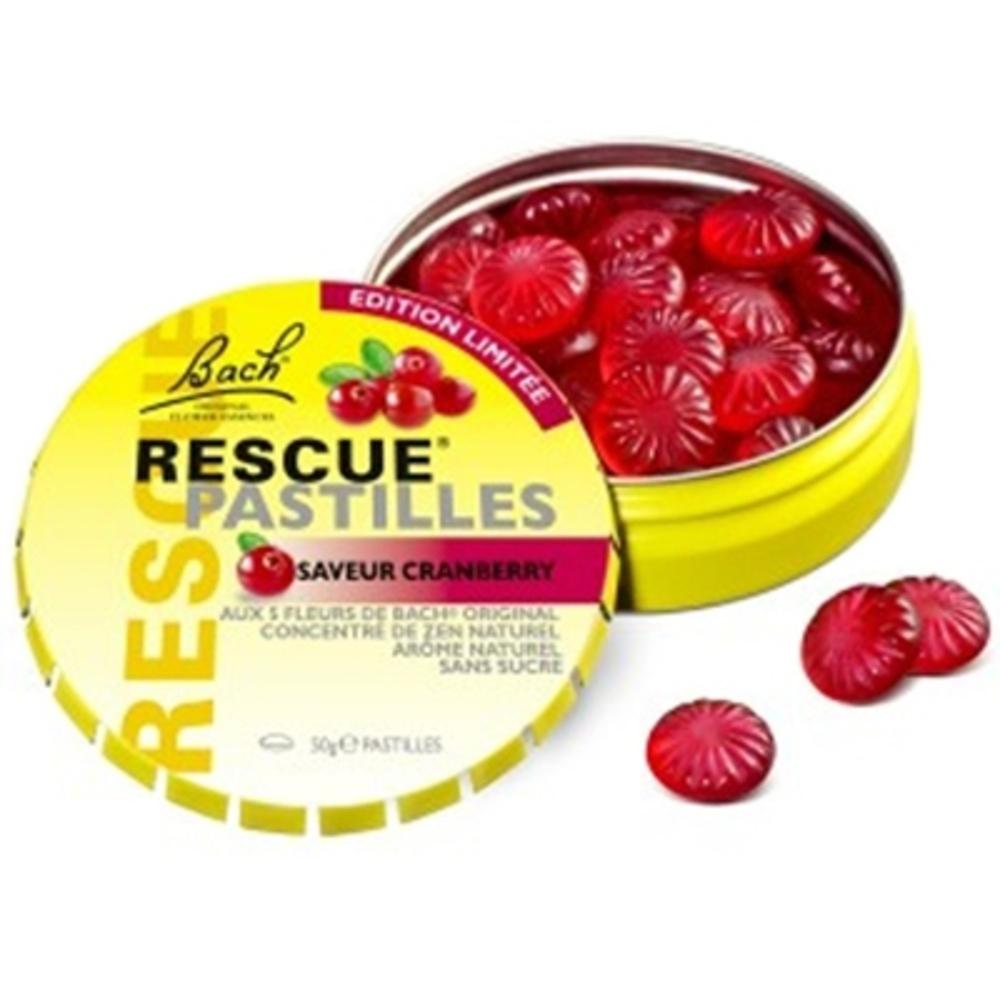 Rescue pastilles cranberry - 50.0 g - bach original Pratique et discrète-139042