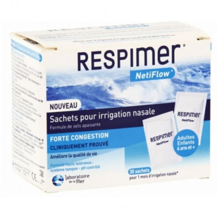 Respimer netiflow sachets pour irrigation nasale Laboratoire de la mer-144906
