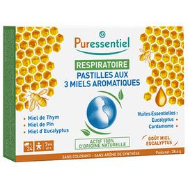 Respiratoire pastilles aux 3 miels - 24.0 unites - respiratoire - puressentiel -141285