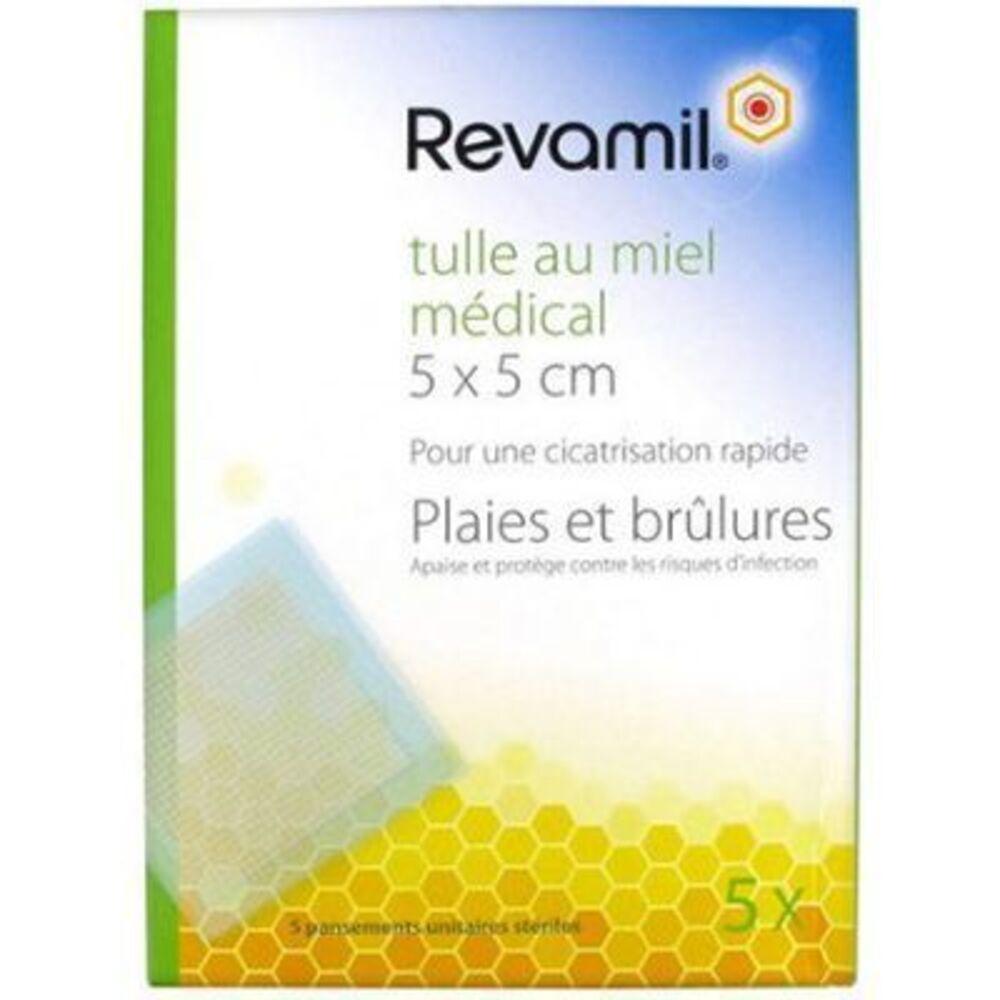 Revamil tulle au miel médical 5x5cm - revamil -222065
