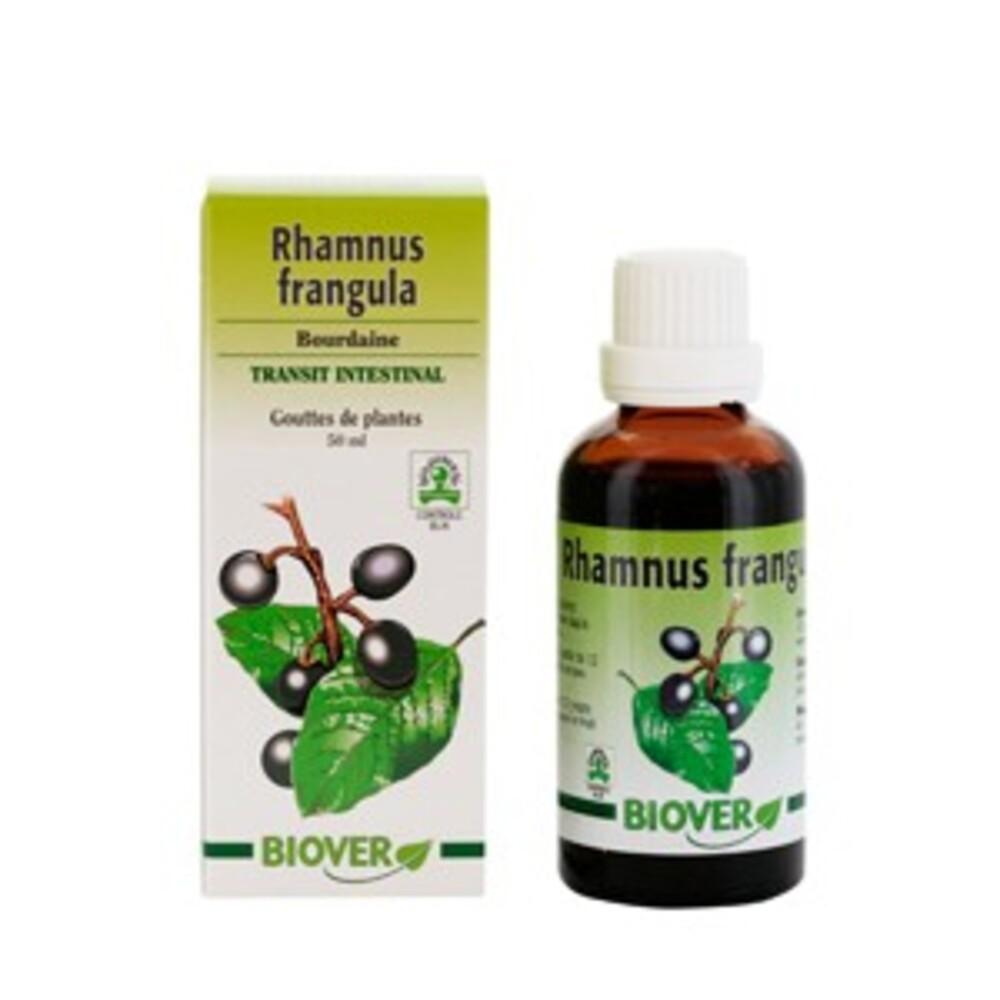 Rhamnus frangula (bourdaine) bio - 50.0 ml - gouttes de plantes - teintures mères - biover Effet favorable sur le transit intestinal-8987