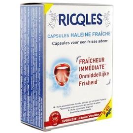 Ricqles capsules haleine fraiche - eco - 60.0 unites - hygiène bucco-dentaire - ricqles -132033