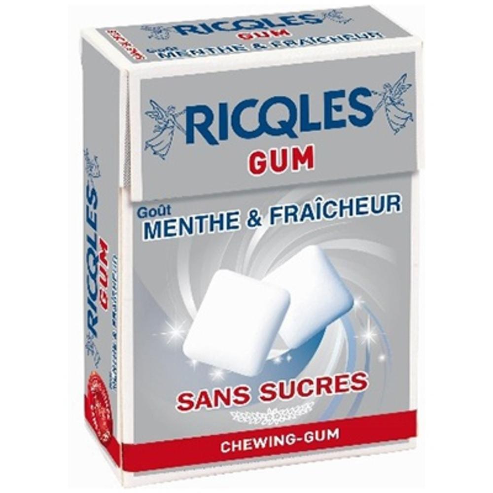 RICQLES Chewing-gum Menthe/Fraicheur - 24.0 g - Hygiène bucco-dentaire - Ricqles -132035