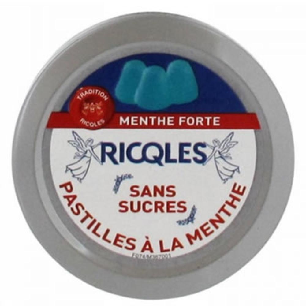 Ricqles pastilles menthe sans sucre - 50.0 g - voies respiratoires - ricqles Menthe et Eucalyptus-132019