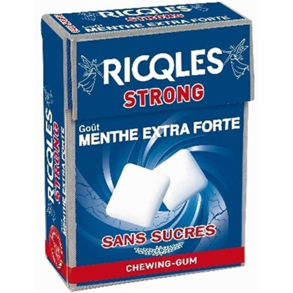 RICQLES Strong Chewing-gum - 24.0 g - Hygiène bucco-dentaire - Ricqles -132034