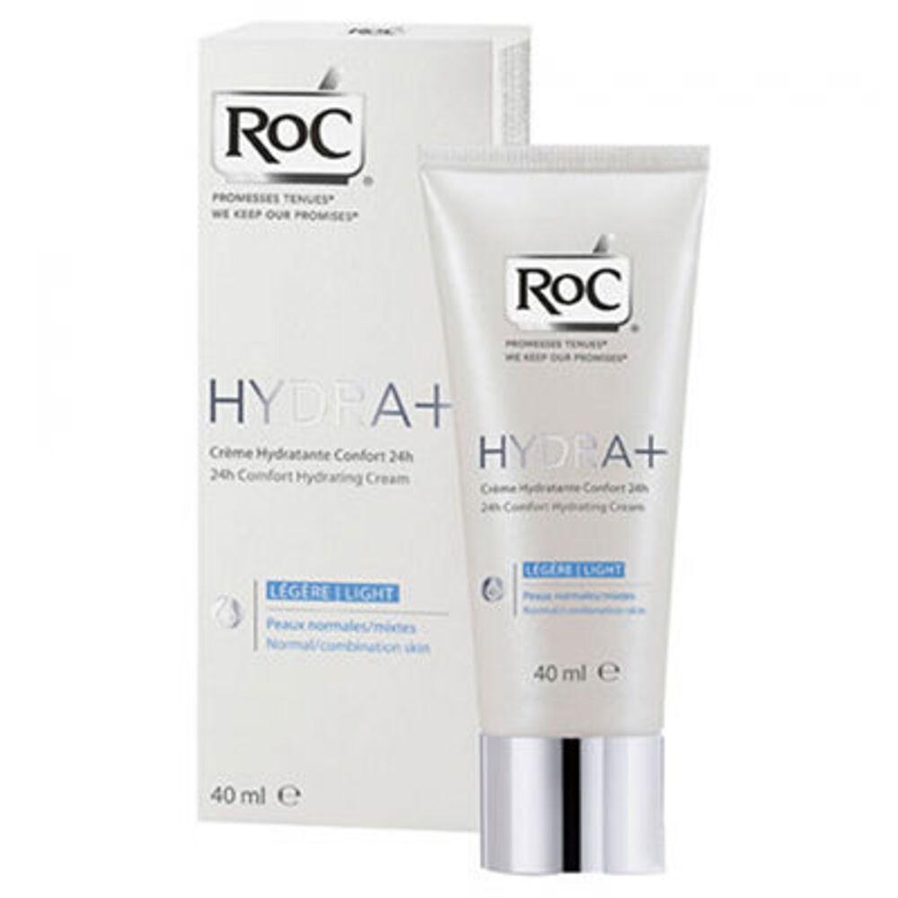 Roc hydra+ crème hydratante confort 24h légère 40ml - 40.0 ml - hydra+ - roc Peaux normales et mixtes-106489