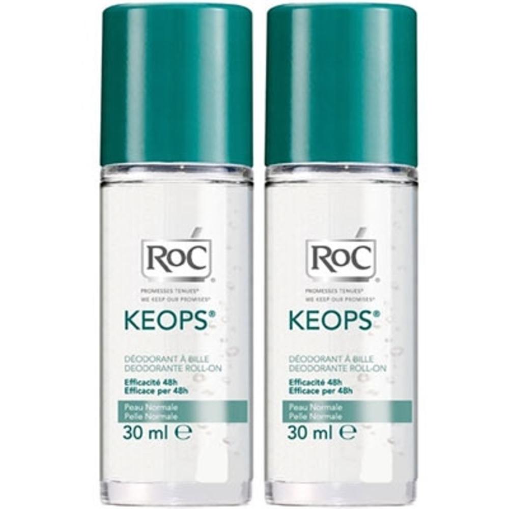 Roc keops déodorant bille - lot de 2 - 30.0 ml - déodorants keops - roc Transpiration abondante-7219