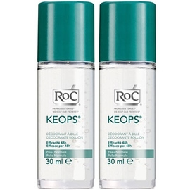 Roc keops déodorant bille - lot de 2 - 30.0 ml - déodorants keops - roc Transpiration abondante-7219