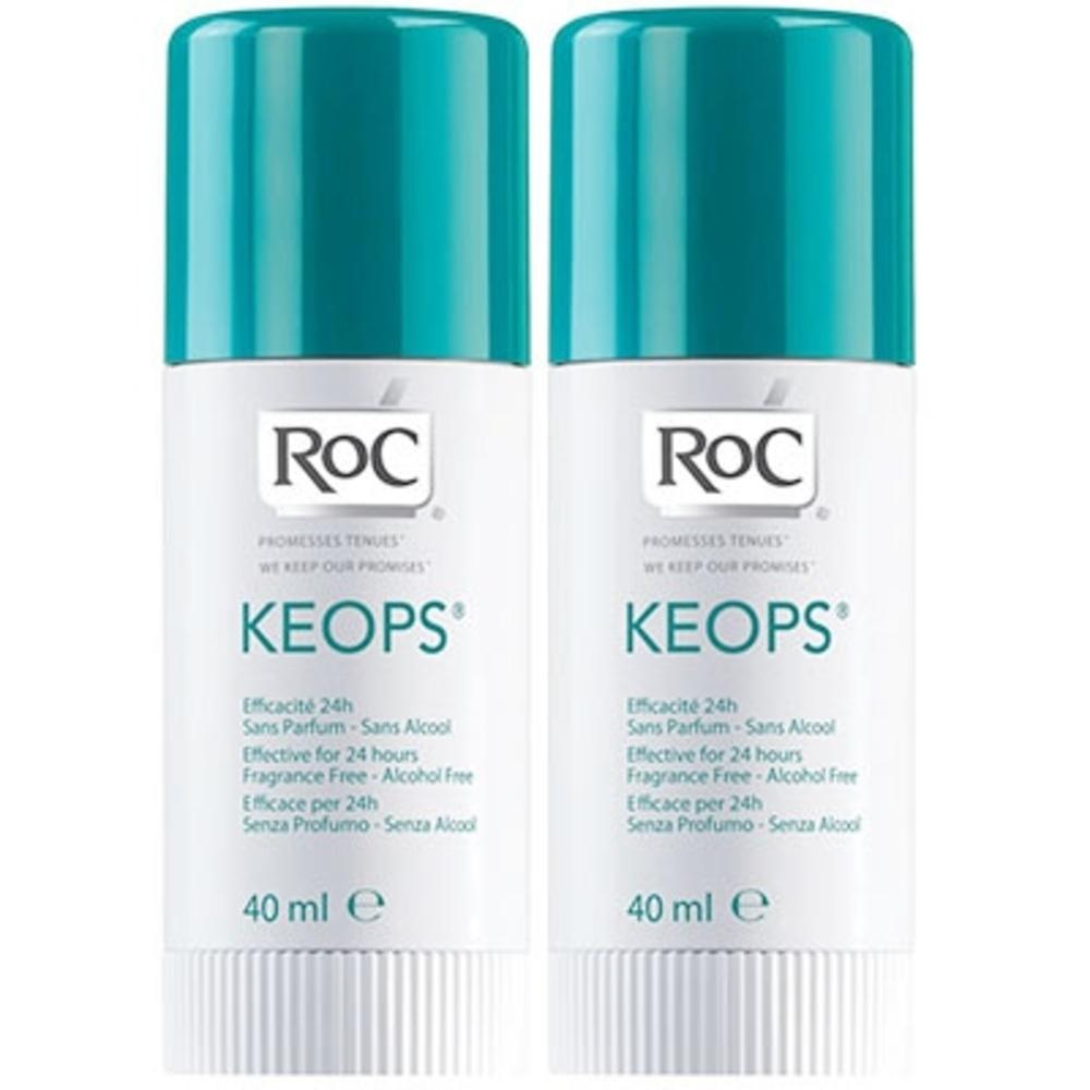 Roc lot de 2 deodorants sticks keops - 40.0 ml - déodorants keops - roc Transpiration modérée-7217