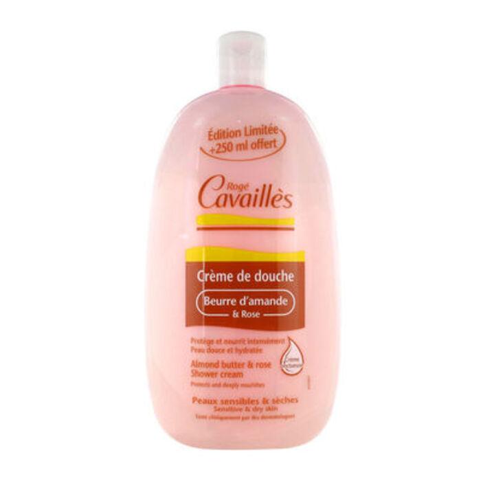 Roge cavailles crème de douche beurre d'amande et rose 500 ml + 250 ml offert Rogé cavaillès-221352