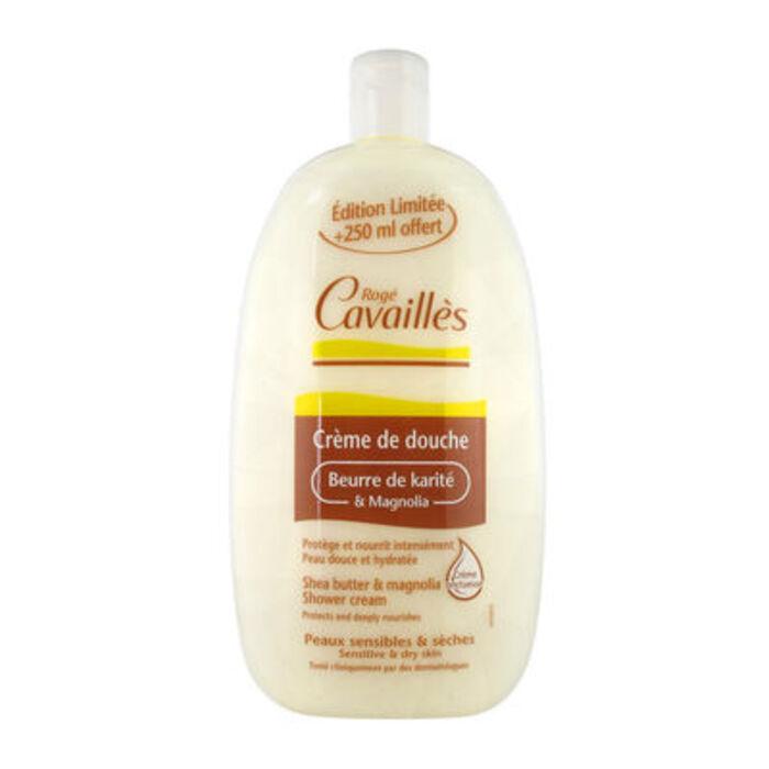 Roge cavailles crème de douche beurre de karité et magnolia 500 ml + 250 ml offert Rogé cavaillès-221353