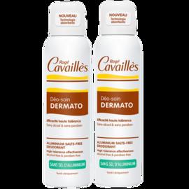 Roge cavailles déo-soin dermato déodorant spray - lot de 2 x 150ml - 150.0 ml - déodorants - rogé cavaillès -100982