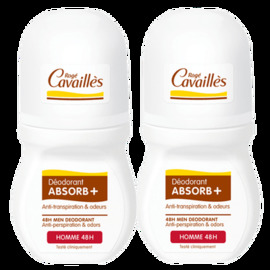 Roge cavailles déodorant absorb+ homme 48h roll-on 2x - 50.0 ml - déodorants - rogé cavaillès -140719