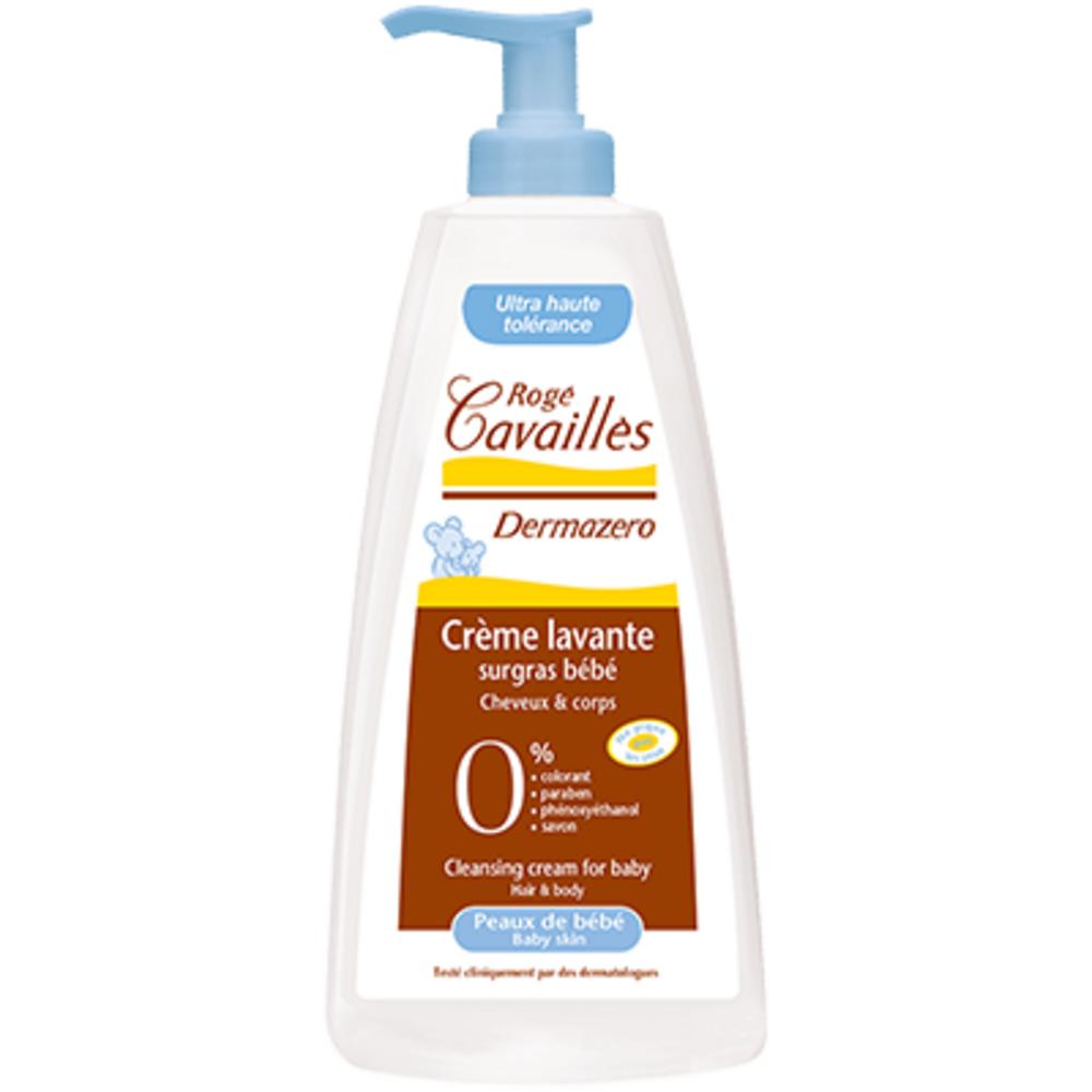 Roge cavailles dermazero crème lavante surgras bébé - 500.0 ml - dermazero - rogé cavaillès -140676