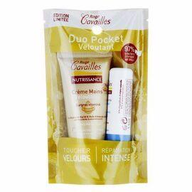 Roge cavailles duo pocket crème mains veloutante 30ml + stick lèvres - rogé cavaillès -216508