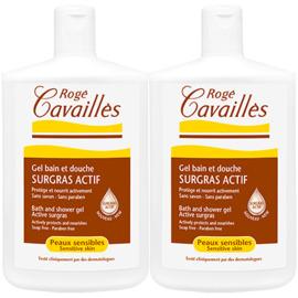 Roge cavailles gel bain et douche surgras actif lot de 2 x 400ml - rogé cavaillès -215309