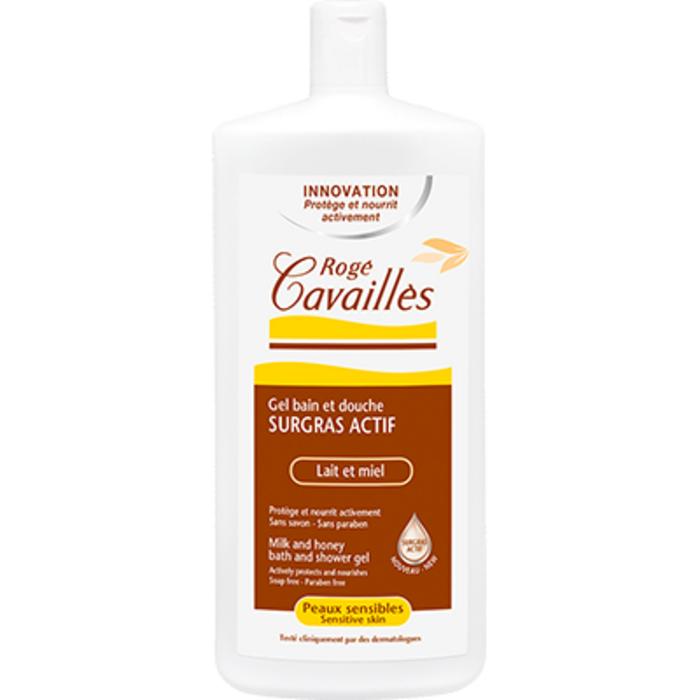 Roge cavailles gel surgras actif bain et douche lait et miel 400ml Rogé cavaillès-223576