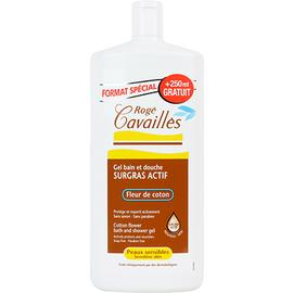 Roge cavailles gel surgras bain douche fleur de coton - 1l - 750.0 ml - bains - rogé cavaillès -132810