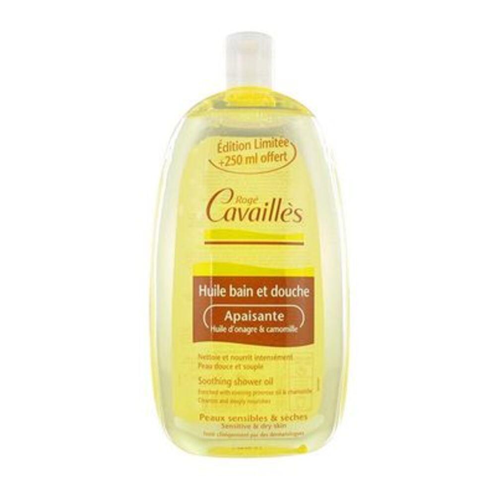 Roge cavailles huile bain et douche apaisante huile d'onagre & camomille 500 ml + 250 ml offert Rogé cavaillès-221363