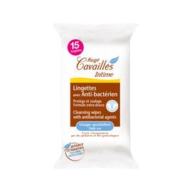 Roge cavailles intime lingettes avec anti-bactérien x15 - rogé cavaillès -205213