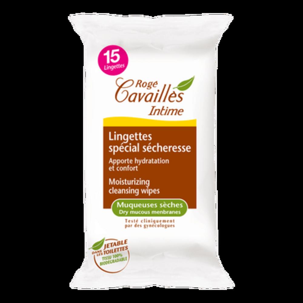 Rogé cavaillès lingettes spécial sécheresse x15 - 15.0 unites - hygiène intime - rogé cavaillès -101459