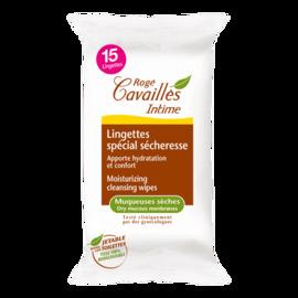 Roge cavailles lingettes spécial sécheresse x15 - 15.0 unites - hygiène intime - rogé cavaillès -101459