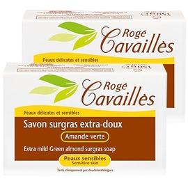 Roge cavailles savon surgras extra-doux amande verte - lot de 2 - 250.0 g - savons - rogé cavaillès -82540