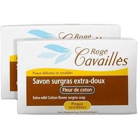 Roge cavailles savon surgras extra-doux fleur de coton - lot de 2 - 250.0 g - savons - rogé cavaillès -82728
