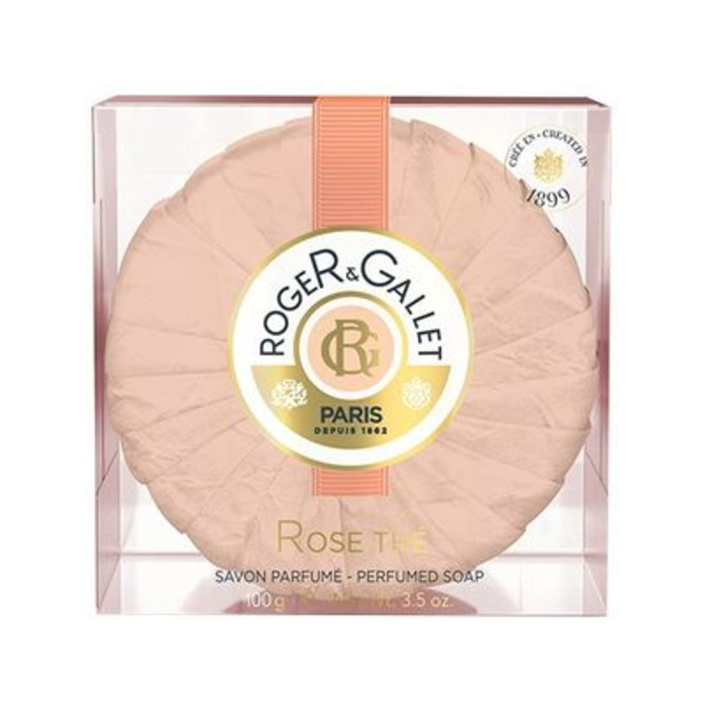 Roger & gallet rose thé savon voyage - 100.0 g - rose the - roger & gallet -84385