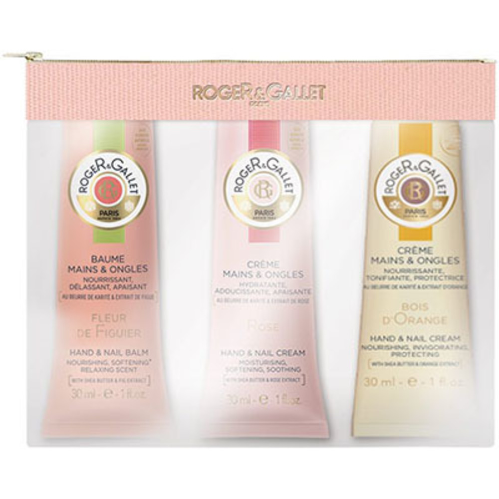 Roger & gallet trio crèmes mains bois d'orange, fleur de figuier, rose 30ml Roger & gallet-222706