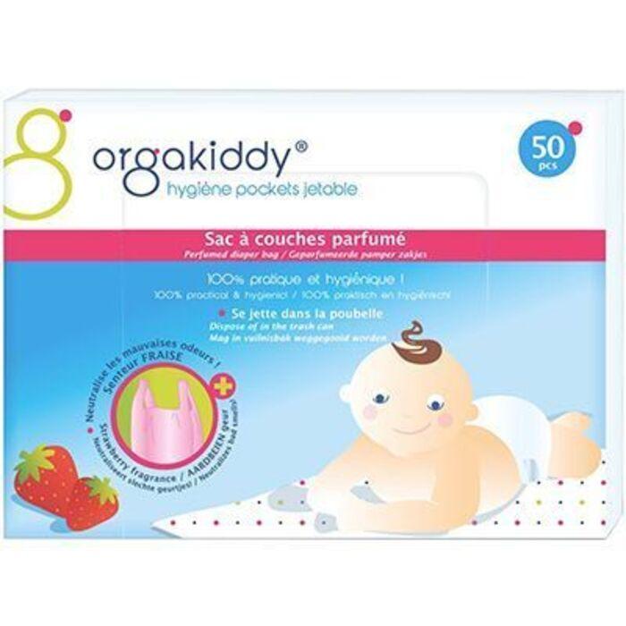 Sac à couches parfumé fraise x50 Orgakiddy-223758