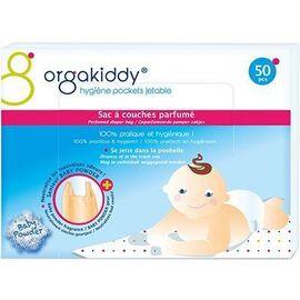 Sac à couches parfumé talc x50 - orgakiddy -223743