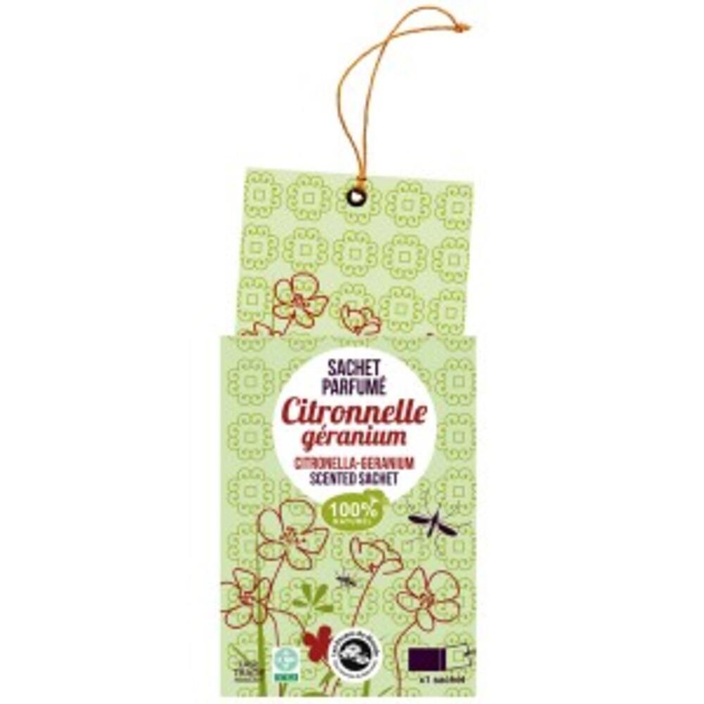 Sachet parfumé citronnelle-géranium - divers - florisens -135941