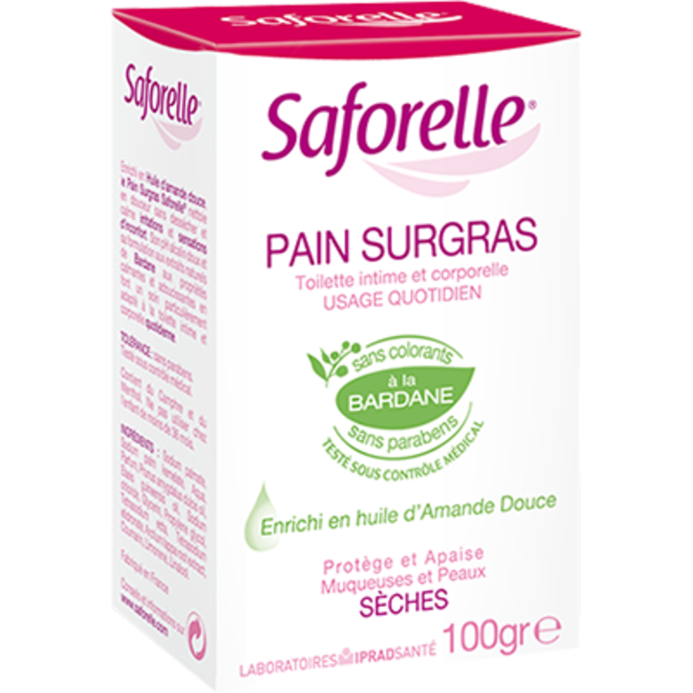 Saforelle savon pain surgras - 100 g - 100.0 g - hygiène intime - saforelle -13150