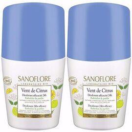 Sanoflore déodorant vent de citrus roll-on 2x50ml - sanoflore -215181