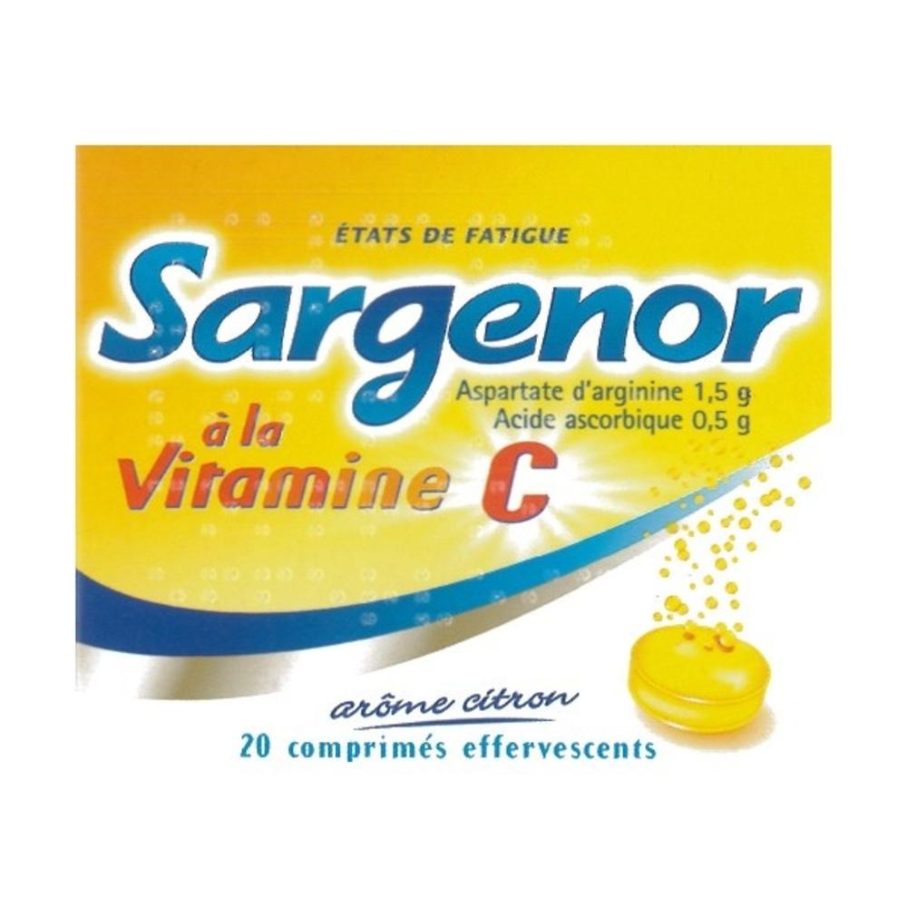 Sargenor à la vitamine c - 20 comprimés - meda pharma -192853