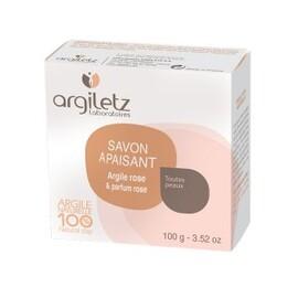 Savon argile rose parfum rose bio - 100.0 g - savons bio - argiletz Toutes peaux-8937