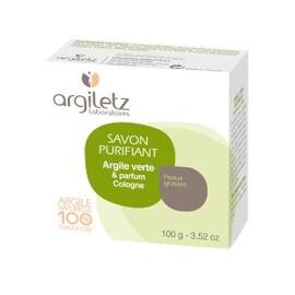 Savon argile verte parfum cologne bio - 100.0 g - savons bio - argiletz Peau à tendance grasse ou à problème-8936