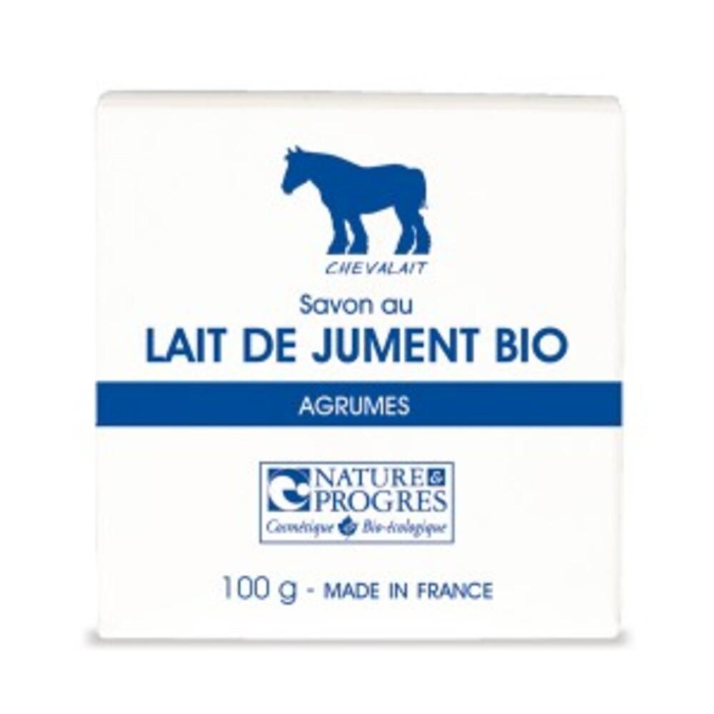 Savon au lait de jument parfum agrumes bio - 100 g - divers - chevalait cosmetique -141885