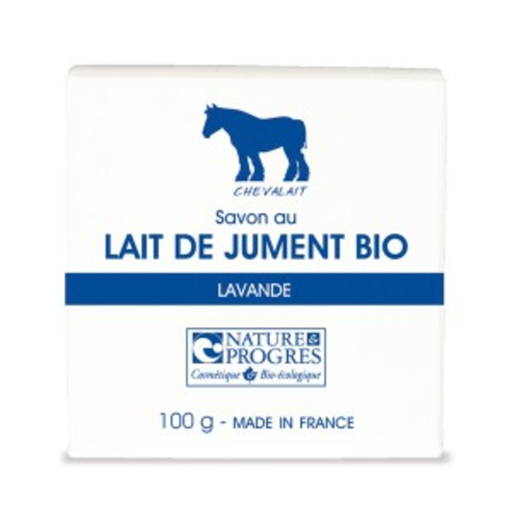 Savon au lait de jument parfum lavande bio - 100 g - divers - chevalait cosmetique -141883