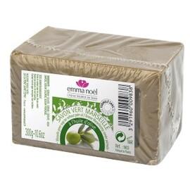 Savon de marseille vert étui cellophane 300g - 300.0 g - savon de marseille 72% d'huile - emma noël -6677
