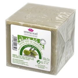 Savon de marseille vert étui cellophane 600g - 600.0 g - savon de marseille 72% d'huile - emma noël -6676