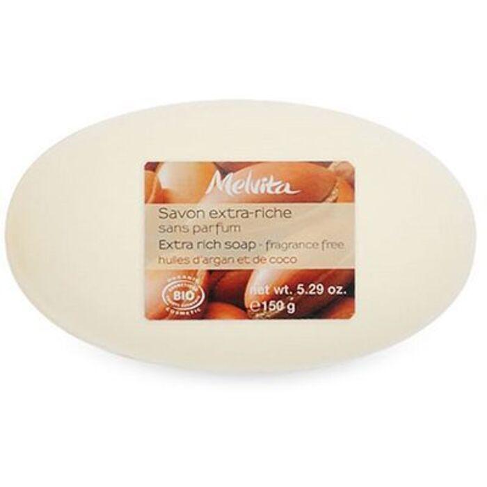 Savon extra riche sans parfum bio 150g Melvita-213481