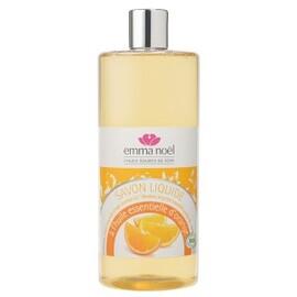 Savon liquide à he d'orange bio - 1000.0 ml - savons liquides - emma noël -6684