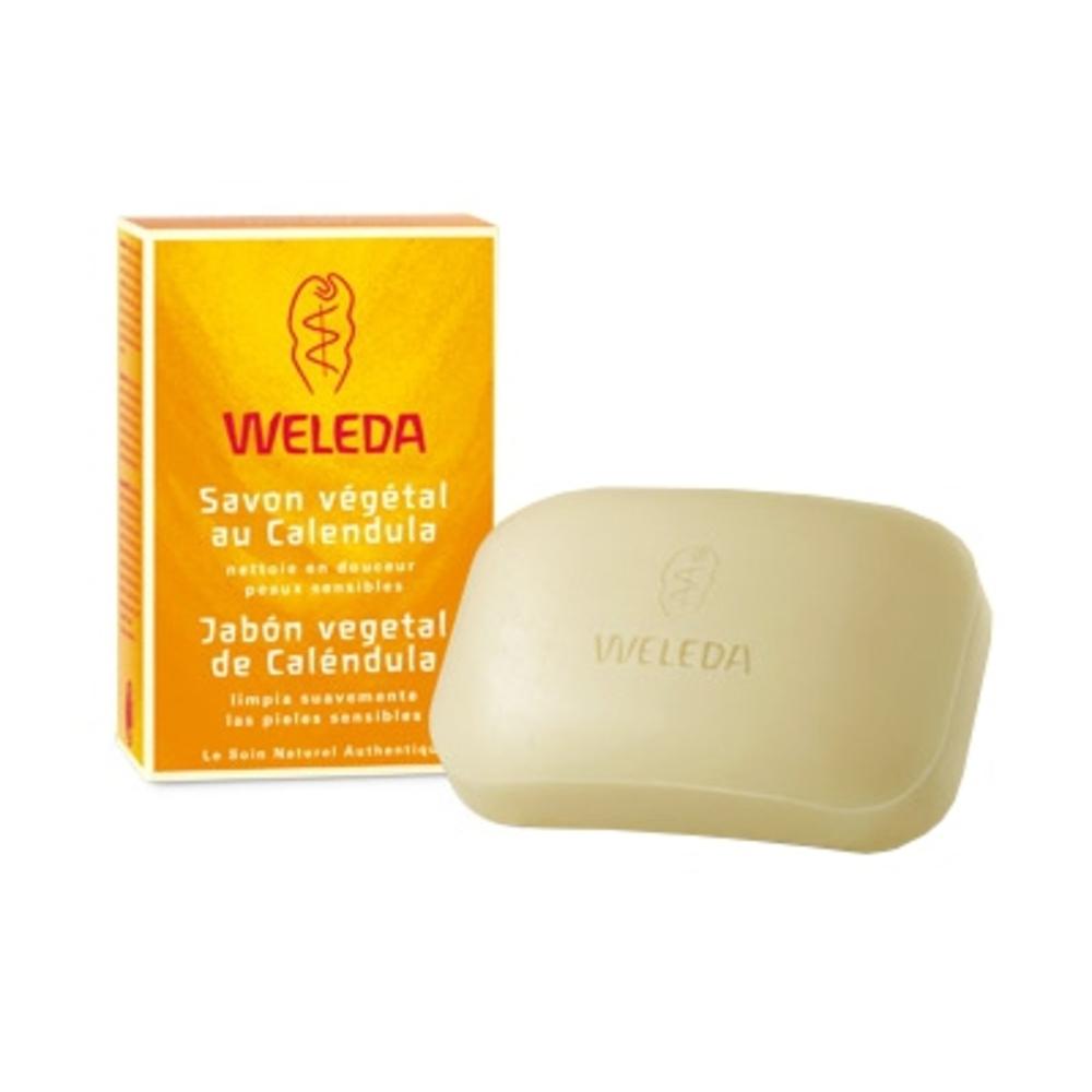 Savon végétal au calendula - 100.0 g - hygiène - weleda Nettoie en douceur - peaux sensibles-556