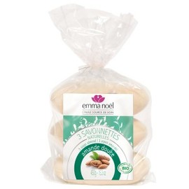 Savonnettes amande douce bio - 150.0 g - savonnettes végétales bio - emma noël -6660