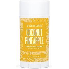 Schmidt's déodorant stick noix de coco ananas peaux sensibles 92g - schmidt s -219740