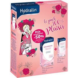 Sécheresse crème lavante intime 200ml + lubrifiant gel lubrifiant 50ml - hydralin -221475