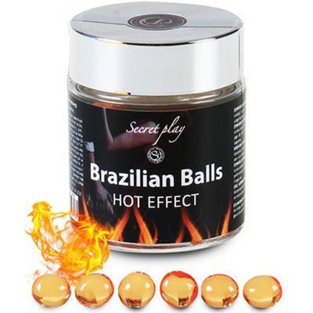 Secret play brazilian balls lubrifiant effet chaud x6 - secret-play -225825